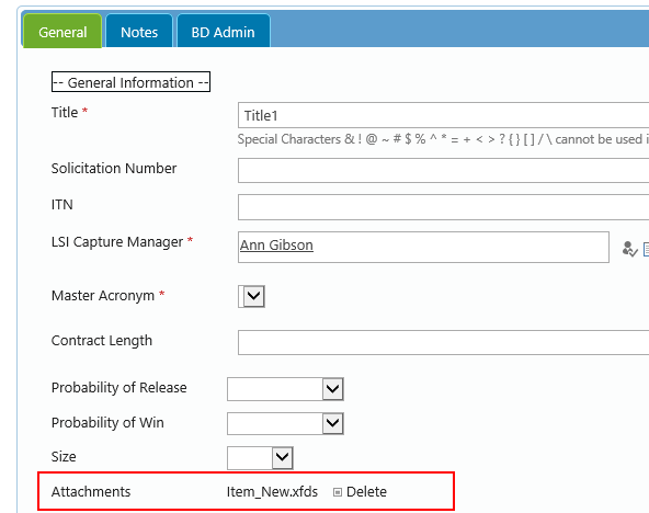 SharePoint custom edit form with attachments