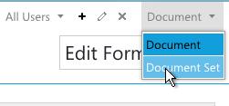 Document Set Form